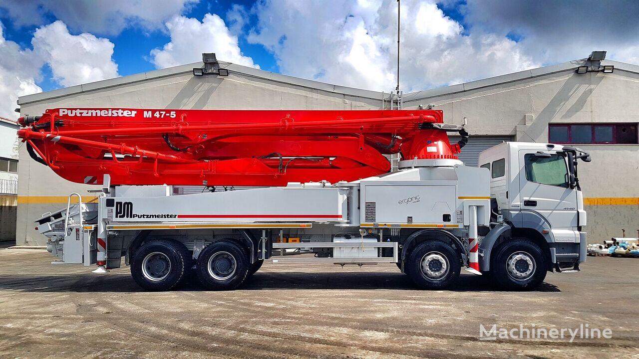 Putzmeister 2017 47 METER ERGONIC op chassis MERCEDES-BENZ Axor 4140 betonpomp