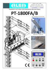 nieuw PT ALBA 1800FA/B hangend platform
