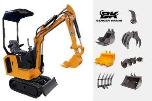 nieuw BERGER KRAUS Mini Excavator BK800B with FULL equipment minigraver